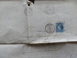 46/078   LETTRE GC 3598   NANCY - Marcophilie (Lettres)