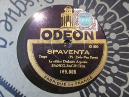 78 Tours Torcacita Spaventa  - Bianco Bachicha - Odeon 165005 - 78 T - Disques Pour Gramophone
