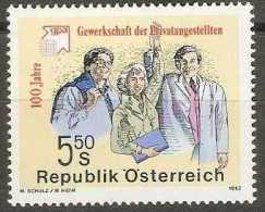 Austria - 1992 Clerks Trade Union 5.50s MNH **          Sc 1556 - 1945-.... 2nd Republic