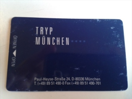 Alt597 Chiave Elettronica Hotel Clef D`hotel Room Key Tarjeta Hotel Hotelkarte TRYP Hotel Munchen,Monaco Germany - Chiavi Elettroniche Di Alberghi