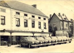 RARE! Photo 17,5 X 12,5 cm) Hotel du Cerf ASSESSE (pr�s de Courri�re et Crupet) Pompe ESSO. Voir scan.