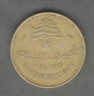 LIBANO 10 PIASTRES 1972 - Libano