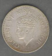 INDIA 1 RUPEE 1940 AG SILVER GEORGE VI - Indien