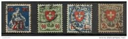 Timbres - Suisse - 1921-1924 - Lot De 4 Timbres  - Oblitéré - Dentelés -