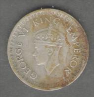 INDIA HALF RUPEE 1943 AG SILVER GEORGE VI - Indien
