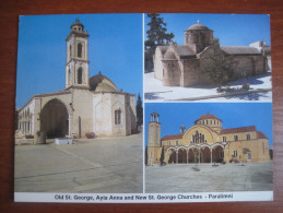 Cyprus. Old St. George, Aya Anna And New St. George Churches. Paralimni. - Cyprus