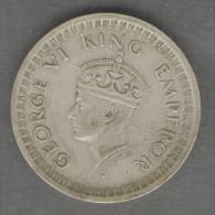 INDIA HALF RUPEE 1944 AG SILVER GEORGE VI - India