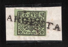 Italien, Briefstück, Voller Langstempel! , S648 - Kirchenstaaten