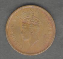INDIA QUARTER ANNA 1942 GEORGE VI CONIO LEGGERAMENTE DEFORMATO - Indien