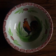 SAINT AMAND� - saladier au coq - bowl rooster - hanenkom - SE422