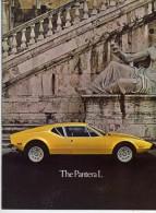 De Tomaso Pantera L 1973 1a Serie 1973 Depliant Originale In Inglese Rare Factory Brochure Original English Text - Cars