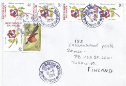 Niger 1990 Say Ploceus Weaving Bird Hibiscus Rosa Flower Plant Cover - Niger (1960-...)