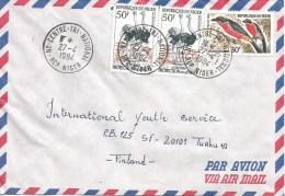 Niger 1984 Niamey Laniarus Ostrich Bird Cover - Niger (1960-...)