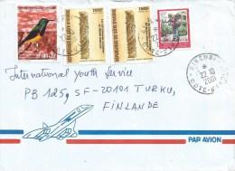 Cote D´Ivoire Ivory Coast 2001 Sikensi Nectarinia Sunbird Totem Pole Cover - Zangvogels