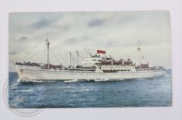 Italian Boat Postcard - MN. Antoniotto Usodimare - Bateaux