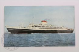 Italian Boat Postcard - SS Cristoforo Colombo, Italian Line - Ships