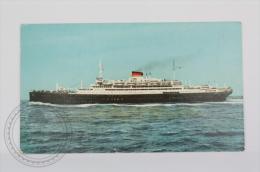 Italian Boat Postcard - MS VULCANIA, Italian Line - Ships