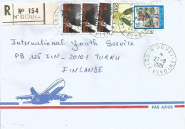 Cote D´Ivoire Ivory Coast 2001 N´Douci Nelson Mandela Peace Nobel Prize Orchid Registered Cover - Nobelprijs