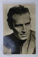 Original Vintage Real Photography Cinema/ Movie Postcard - Actor: Charlton Heston - Actores