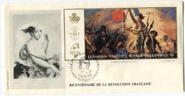 ARGENTINE BF 40 THEME REVOLUTION FRANCAIS ENVELOPPE 1er JOUR OBLITERATION BUENOS AIRES 1 JULIO 1989 - Franz. Revolution