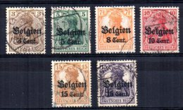 Germany - 1916/18 - Occupation Of Belgium (Part Set) - Used - Besetzungen 1914-18