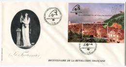 BRESIL BF 77 THEME REVOLUTION FRANCAISE ENVELOPPE 1er JOUR OBLITERATION RIO DE JANEIRO 7-7-89 - Franz. Revolution