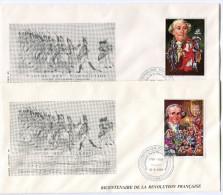 TOGO N°1272/3 THEME REVOLUTION FRANCAISE 2 ENVELOPPES OBLITERATION LOME 12-6-1989 - Franz. Revolution