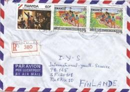 Rwanda 1992 Nyabisindu French Revolution Agriculture Registered Cover - Rwanda
