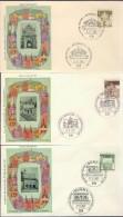 DV13-071 WEST GERMANY 1966-69 FDC MI 489-503 ARCITECTURE, ARCHITECTUUR, MONUMENTS. - Monumenten