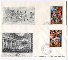 TOGO PA 661/2 THEME REVOLUTION FRANCAISE 2 ENVELOPPES OBLITERATION LOME 12-6-1989 - Franz. Revolution
