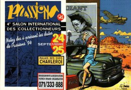 Petit Calendrier  -    1994 - 4�me Salon des Collectionneurs � Charleroi - Illustration J.F. Charles