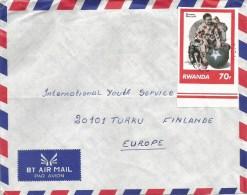 Rwanda 1994 Kigale Imperforated Non-dentelé Norman Rockwell Clown Circus Cover - Rwanda