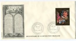 TOGO PA 663 THEME REVOLUTION FRANCAIS ENVELOPPE OBLITERATION LOME 12-6-1989 - Franz. Revolution