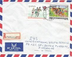 Rwanda 1992 Cyangugu Olympic Games Seoul Athletics Running Agriculture Registered Cover - 1990-99: Afgestempeld