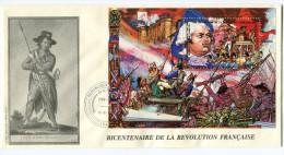 TOGO BF 278 THEME REVOLUTION FRANCAISE  ENVELOPPE OBLITERATION LOME 12-6-1989 - Franz. Revolution