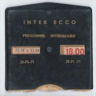 Disque stationnement INTER ECCO