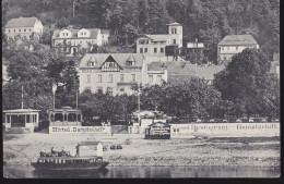 CPA - (Allemagne) Stadt Wehlen - Hotel Dampfschiff - Wehlen