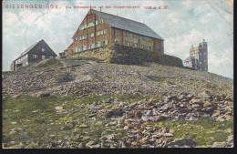 CPA - (Pologne/Tchéquie) Riesengebirge Die Schneekoppe Mit Den Koppenhausern - Pologne