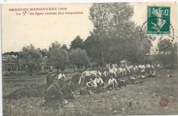 Grandes Manoeuvres 1909.  Le 10ème De Ligne Creuse Des Tranchées - Manoeuvres