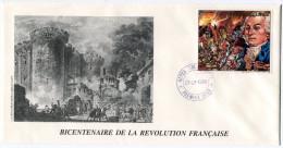 GUINEE PA 239 THEME REVOLUTION FRANCAISE ENVELOPPE 1er JOUR OBLITERATION REPUBLIQUE DE GUINEE 07-07-1989 - Franz. Revolution