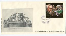 GUINEE PA 240 THEME REVOLUTION FRANCAISE ENVELOPPE 1er JOUR OBLITERATION REPUBLIQUE DE GUINEE 07-07-1989 - Franz. Revolution