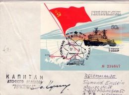 """URSS-Bateau Atomique """"artika""""bloc Sur Lettre-signé ?? - Arctic Expeditions"""