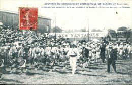 N°41151 -cpa Nantes -souvenir Du Concours De Gymnastique - - Nantes