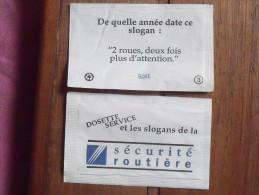 Emballage De Sucre Ancien DOSETTE SERVICE Série Sécurité Routière 2 Roues...3 - Sugars