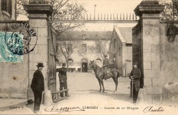 LIMOGES - CASERNE DU 20 è DRAGONS (personnages Et Cheval) - Limoges