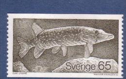 FISH - PIKE Lucio Luccio Brochet Hecht Esox Lucius SWEDEN SUEDE SCHWEDEN  1979 MNH Mi 1076 Poisson Fisch Pescado Pesce - Fishes