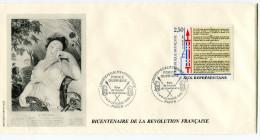 FRANCE THEME REVOLUTION FRANCAISE ENVELOPPE OBLITERATION PARIS 7 Et 8 OCTOBRE 1989 FORCE OUVRIERE FETE DE L'AMITIE...... - Franz. Revolution