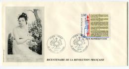 FRANCE THEME REVOLUTION FRANCAISE ENVELOPPE OBLITERATION  02 AUBIGNY AUX KAISNES 7 -8 OCTOBRE 1989 - Franz. Revolution