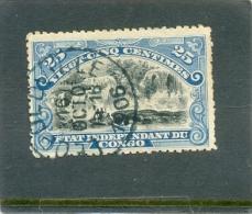 """1894 CONGO BELGE Y & T N° 22 ( O ) Type """" Mols """" 25c - Dentelure Imparfaite !!! - 1894-1923 Mols: Used"""