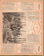 ALMANACH DES POSTES & TELEGRAPHES OBERTHUR 1904